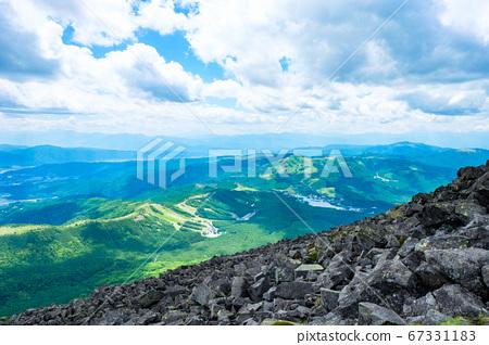 초여름의 蓼科山 등산 : 정상에서 시라 카바 · 기리가 미네 방면 희망 67331183