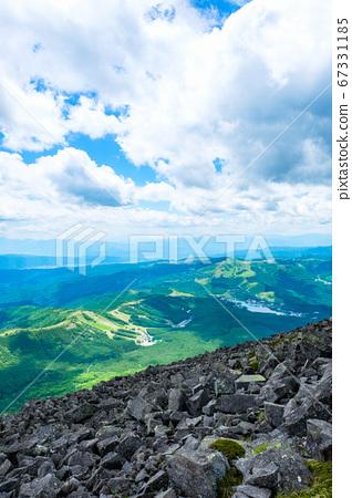 초여름의 蓼科山 등산 : 정상에서 시라 카바 · 기리가 미네 방면 희망 67331185