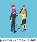 Isometric business people putting their hands 67335684