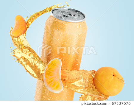 tangerine fruit soda in an iron can splash of 67337070
