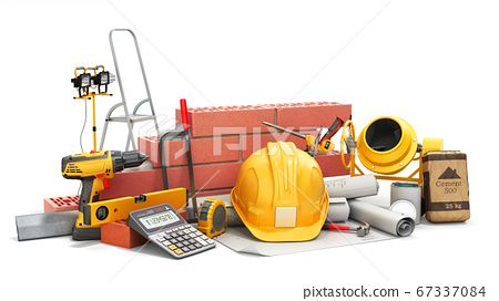 modern construction costing concept hard hat 67337084