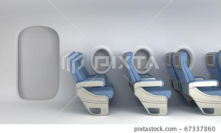 Simple Airplane travel concept empty passenger 67337860