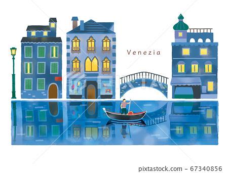 意大利時尚小鎮和運河圖集 67340856