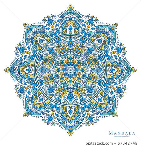Luxury mandala pattern on a white background.  67342748