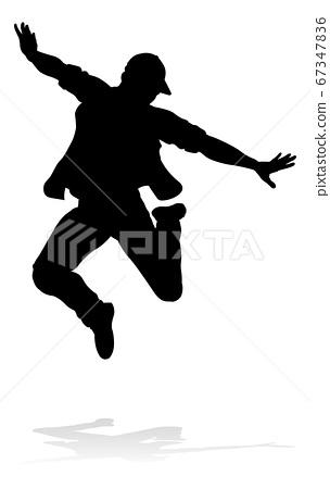 Street Dance Dancer Silhouette 67347836