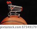 image of basketball trolley dark background  67349170