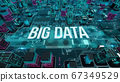 Big Data with digital technology concept 3D rendering 67349529