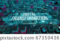 Digital Transformation with digital technology concept 3D rendering 67350436