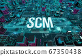 SCM with digital technology concept 3D rendering 67350438