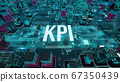 KPI with digital technology concept 3D rendering 67350439