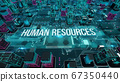 Human resources with digital technology concept 3D rendering 67350440