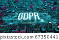 GDPR with digital technology concept 3D rendering 67350441