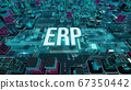 ERP with digital technology concept 3D rendering 67350442