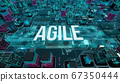 Agile with digital technology concept 3D rendering 67350444