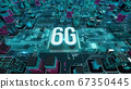 6G with digital technology concept 3D rendering 67350445