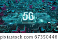5G with digital technology concept 3D rendering 67350446