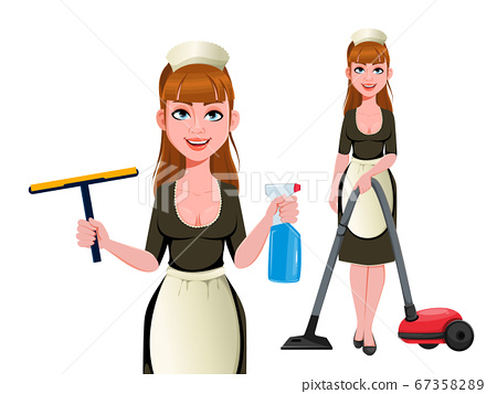 Maid, cleaning lady, cleaning woman 67358289