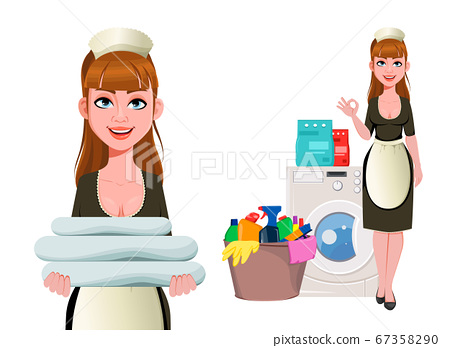 Maid, cleaning lady, cleaning woman 67358290