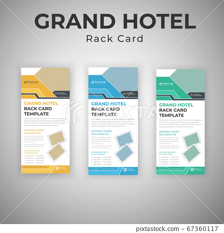 Latest Creative Grand Hotel Services Advertising Rack Card Template 67360117