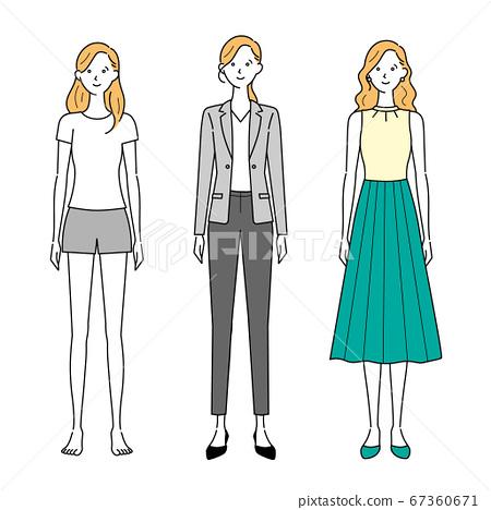 女士休閒風格和辦公室裝 67360671