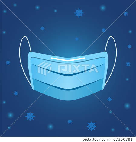 Vector safety mask protect virus health care concept. 67360881