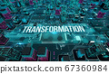 Transformation with digital technology concept 3D rendering 67360984