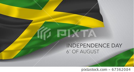 Jamaica happy independence day greeting card, banner with template text vector illustration 67362084