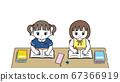一起学习的女孩的插图 67366919