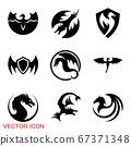 Dragon icon, Dragon logo vector design template, dragon icon. 67371348