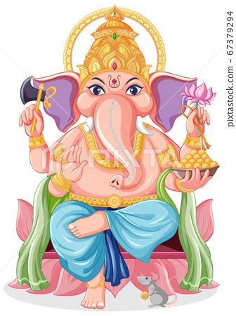 Lord Ganesha cartoon style 67379294