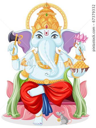 Lord Ganesha cartoon style 67379332