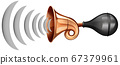 Horn sound wave icon 67379961