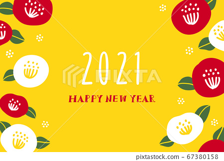 2021 simple new year card template 67380158
