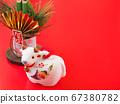 [2021年牛年新年賀卡的圖像]牛的新年裝飾庫存圖片-攝影庫 67380782