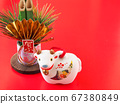 [Image for 2021 ox-year New Year's card] New Year's decoration of ox stock Photos-photolibrary 67380849