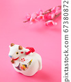 [Image for 2021 ox-year New Year's card] New Year's decoration of ox stock Photos-photolibrary 67380872