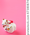 [Image for 2021 ox-year New Year's card] New Year's decoration of ox stock Photos-photolibrary 67380874