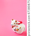 [Image for 2021 ox-year New Year's card] New Year's decoration of ox stock Photos-photolibrary 67380875