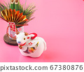[Image for 2021 ox-year New Year's card] New Year's decoration of ox stock Photos-photolibrary 67380876