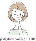 고민하는 여성 67381109