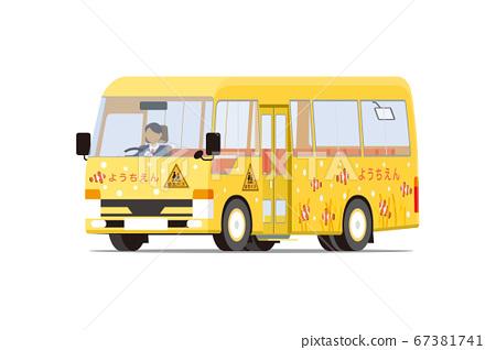 黃色幼兒園班車(對角朝前) 67381741