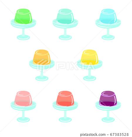 Jelly + dessert plate (mountain type) 67383528