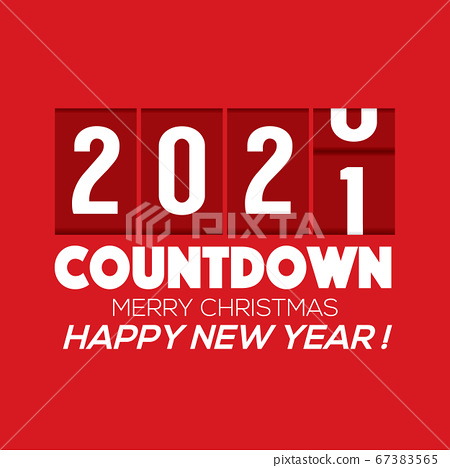 2021 New Year Card Odometer Style Vector Illustration. 67383565