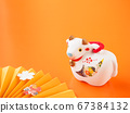 [Image for 2021 ox-year New Year's card] New Year's decoration of ox stock Photos-photolibrary 67384132