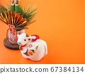 [Image for 2021 ox-year New Year's card] New Year's decoration of ox stock Photos-photolibrary 67384134