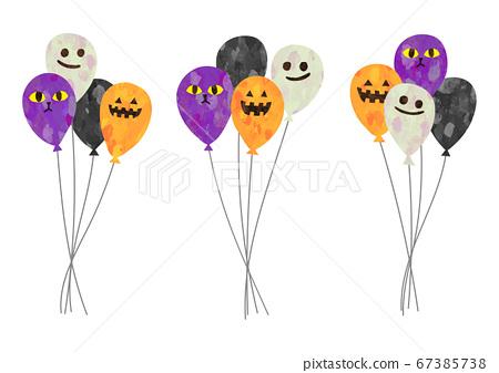 萬聖節人物氣球矢量插畫 67385738