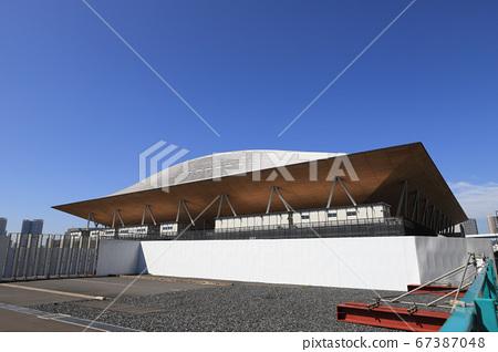 有明體操競技場的外部,在奧林匹克運動會和殘奧會上進行體操,藝術體操和硬木 67387048