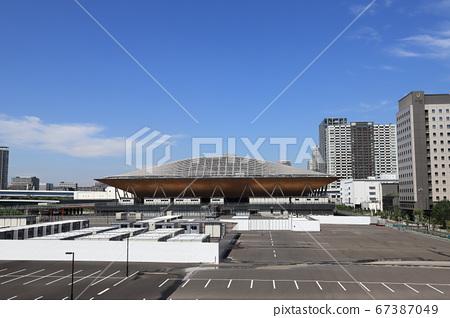 有明體操競技場的外部,在奧林匹克運動會和殘奧會上進行體操,藝術體操和硬木 67387049