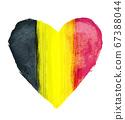 比利時國旗與心符號 67388044