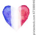 法國國旗與心符號 67388046